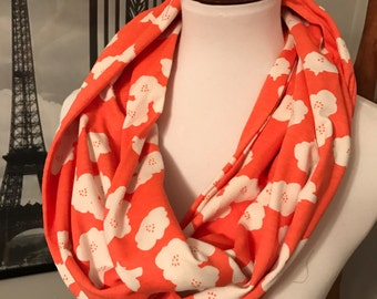 Coral Organic Cotton Infinity Scarf