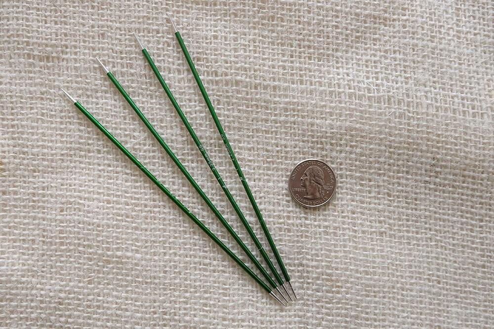 Signature Needles Size 1 - Stiletto Tip - needle is 6 long - set of 4