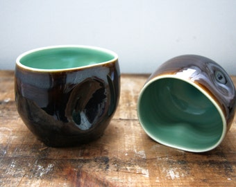 Indented Coal and Glacier Tumbler