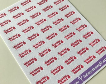 A87 - Donate Blood - Planner Stickers