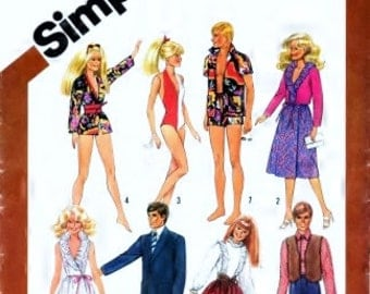 Simplicity 5807 or 231 Pattern Wardrobe For 11 and A Half Inch AND 12 Inch Fashion Dolls - UNCUT