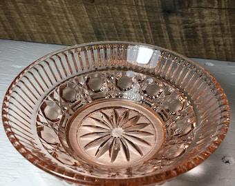 Rose glass bowl