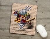 Mousemat - Pad - Alice In Wonderland - White Rabbit
