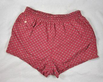 Jantzen Swim Trunks Shorts Size 36 Made in USA Cotton 1970s