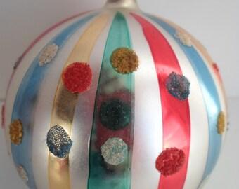 Vintage Christmas Ornament Glass Ornament Christmas Decoration Czechoslovakia