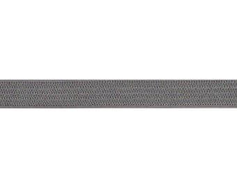 "Gray - 5 Yards 1/4"" Soft Skinny Elastic - 1/4-SSE-017"