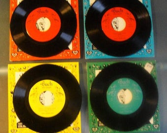 Pennsylvania Dutch Humor Professor (Herman F. Schnitzel) Four 45 RPM Records One 1961, Two 1962, One 1963