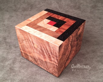 Keepsake Box with Log Cabin Pattern by Quiltboxes