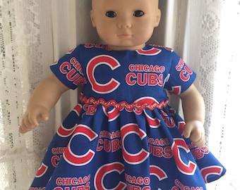 Bitty Baby Cgicago Cubs baseball dress