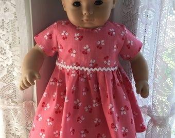 Cheery cherries dress for Bitty Baby dolls