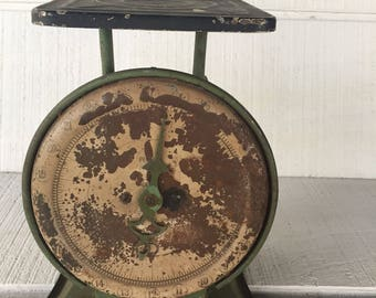 Antique kitchen scale Pelouze 24 LB kitchen scale shabby chic french country kitchen primitive kitchen, rustic kitchen scale farmhouse scale