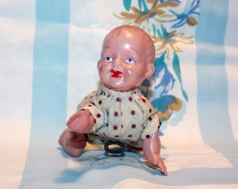 Wind-up Crawling Baby, 1940s, Japan