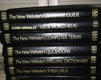 Rand McNally Set of 7 Mini The New Webster's Library of Practical Information  1990