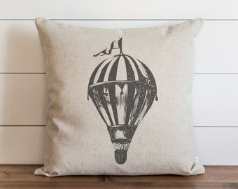 Hot Air Balloon 20 x 20 Pillow Cover // Everyday // Throw Pillow // Gift // Accent // Cushion Cover