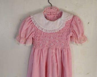 Vintage pink Polly Flinders child's dress - size 4