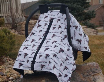 Car Seat Canopy, Atlanta Falcons, Starting Price 37.00, By Official Baby Business