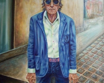 Denim Bloke - Digital Download of Portrait of a Old Rocker