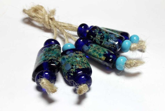 Lampwork glass beads handmade beads supplies jewelry beads for for Unique stones for jewelry making