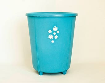Rubber maid etsy for Turquoise bathroom bin