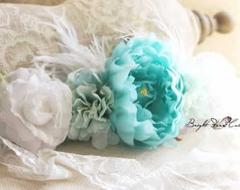 large flower crown - rustic wedding headband - flower head crown - big flower crown - flower crown - Boho headband - flower headpiece