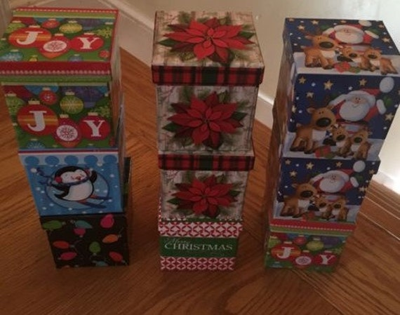 Lindy bowman christmas gift boxes set of from azaleas