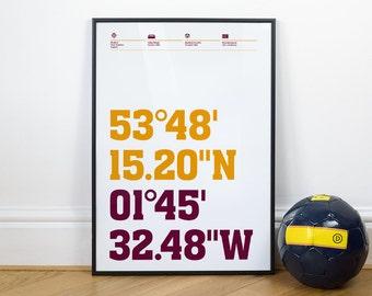 Bradford Football Stadium Coordinates Posters