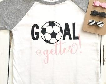 Goal getter soccer raglan