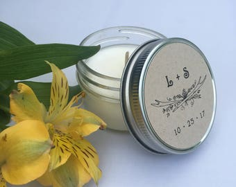 48 Semi-Custom Scented Soy Candles for Wedding, Birthday, Corporate Gifting