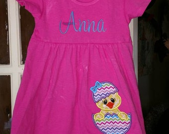 Personalized easter chick egg dress