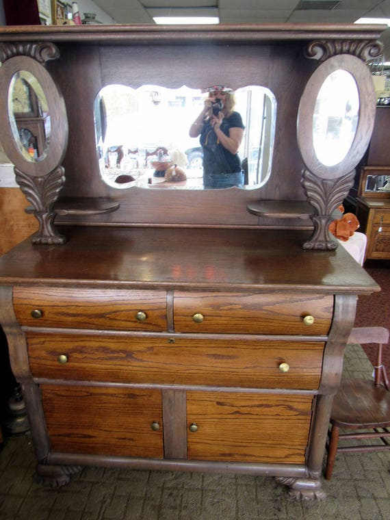 Small Empire Sideboard with Mirror