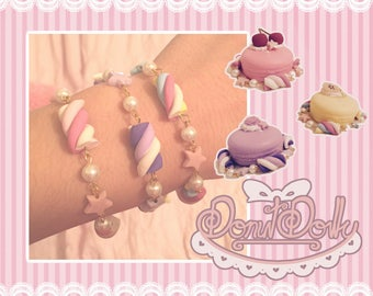 Cute Pastel Marshmallow Bracelets! Perfect for sweet lolita and fairy kei