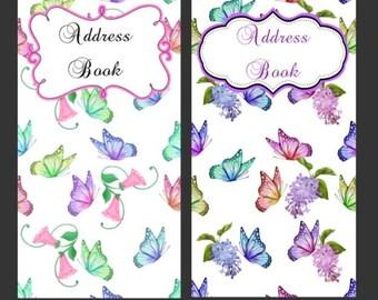 Butterfly, Butterflies Address /Password Books Checkbook Size