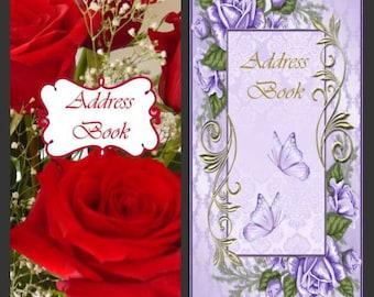 Roses Address /Password Books Checkbook Size