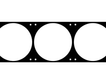 360mm fan grill , fan hole template with a 15mm spacing