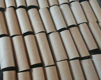 115 Toilet Paper Rolls Upcycle Craft Supplies Brown and White
