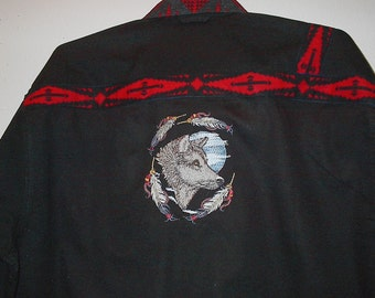 Moon Wolf embroidered shirt (Native American)