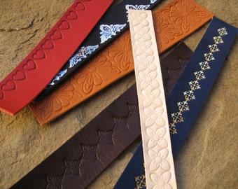 leather bookmarks personalized leather bookmarks handmade bookmarks