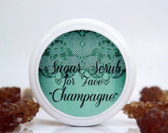 "Sugar scrub for face ""Champagne"""