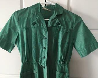 Vintage 1950s Girl Scout Dress