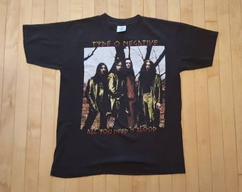 RARE Type O Negative 90s Shirt 1996 vintage band T-shirt - L - Repulsion, Paradise Lost, Moonspell, Life of Agony, Pete Steele, goth, metal