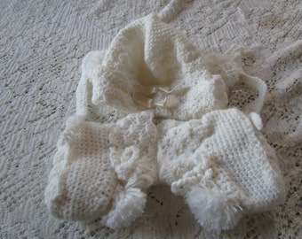 Vintage Baby Bonnet and Booties