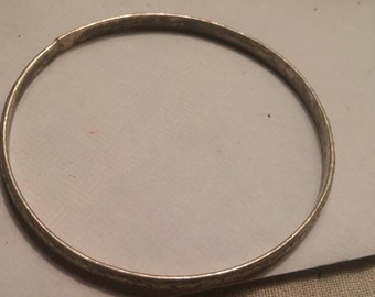 Sterling Silver bangle bracelet from Mexico.
