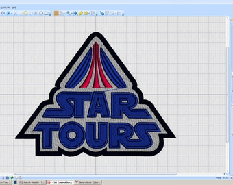 Vintage Star Tours patch - iron-on