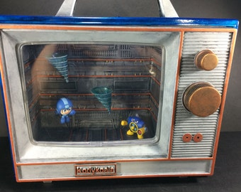 Megaman vs. Airman Mini TV Diorama with Sound