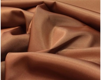 Copper Stretch Satin, polyester spandex satin fabric shiny stretch satin fabric dress shirt lingerie