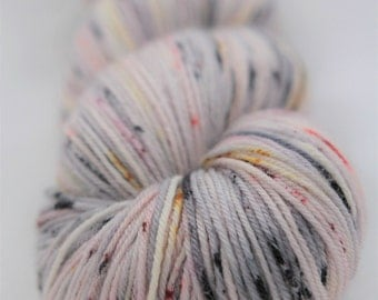 Hand-dyed yarn - superwash merino - dyed-to-order - sock yarn - speckles - DELICATE