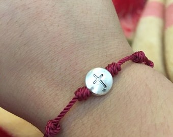 Decenario knotted rosary bracelet