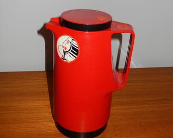 Vintage Red Dr. Zimmermann Busse Design Coffee Thermos or Carafe - Made in West Germany