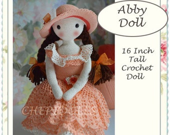 Doll, Crochet doll, Finished 16 Inch tall Chepidoll.