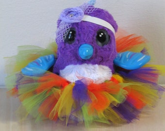Clothes for HATCHIMALS - Multi Tutu with Headband - fits most hatching egg toys
